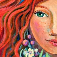 Illustration zeigt ein Mädchen mit roten Haaren