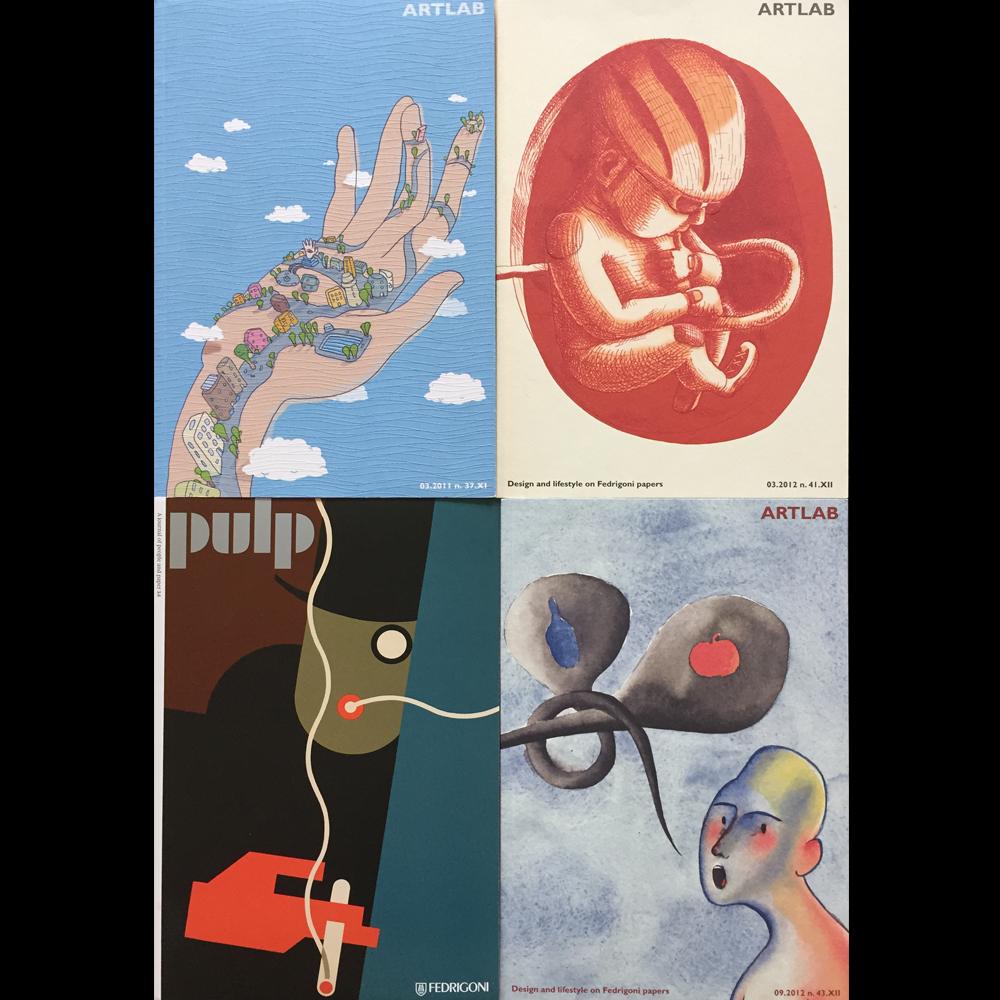 ES werden 4 verschiedene Illustrationen gezeigt. Eine Hand, ein Embryo, eine Person die raucht und ein Mensch im Halbprofil