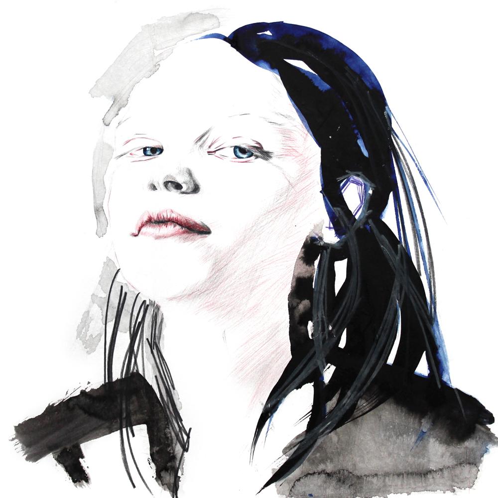 Illustration zeigt das Gesicht des Mädchens namens Charly