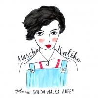 Illustration zeigt Mascha Kaleko im Halbprofil