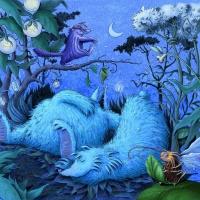 Illustration zeigt zwei friedlich schlafende Monster