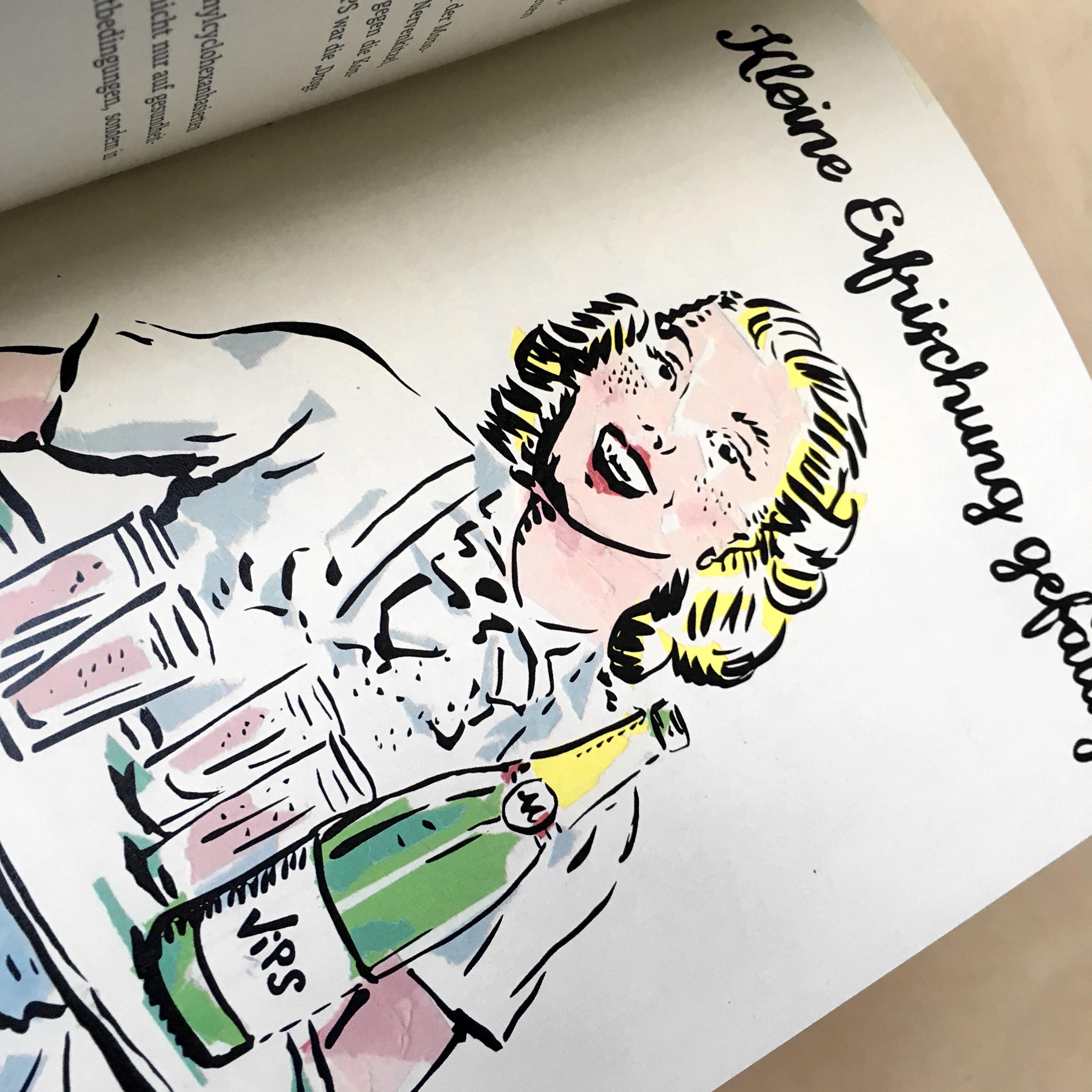 """Illustrierte Seite aus dem Buch """"Monopol"""""""